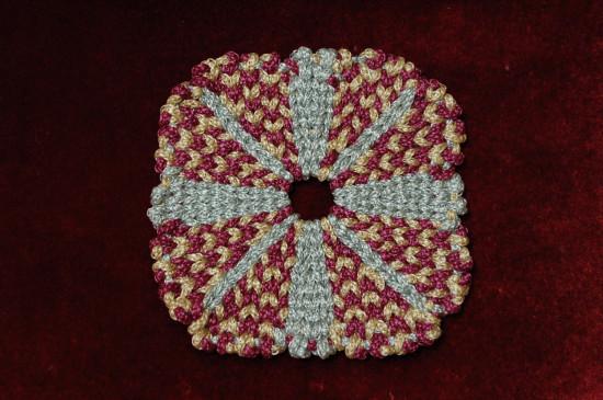 Салфетка плетение из шнура